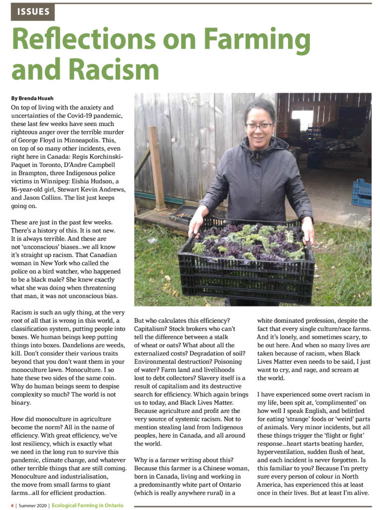 Ecological Farming in Ontario. Vol 43, Issue 3, Summer 2020
